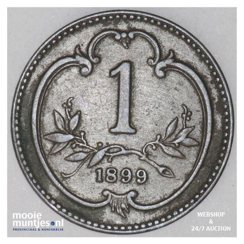 heller - (reform coinage) - Austria 1899 (KM 2800) (kant A)
