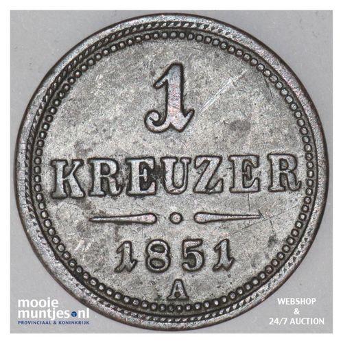 kreuzer - Austria 1851 A (KM 2185) (kant A)