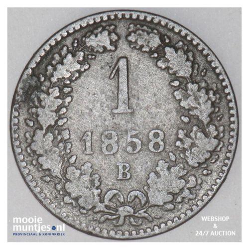 kreuzer - Austria 1858 B (KM 2186) (kant A)