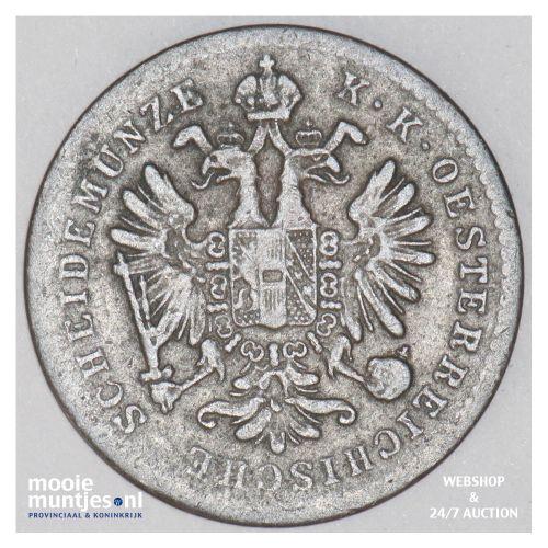 kreuzer - Austria 1858 B (KM 2186) (kant B)