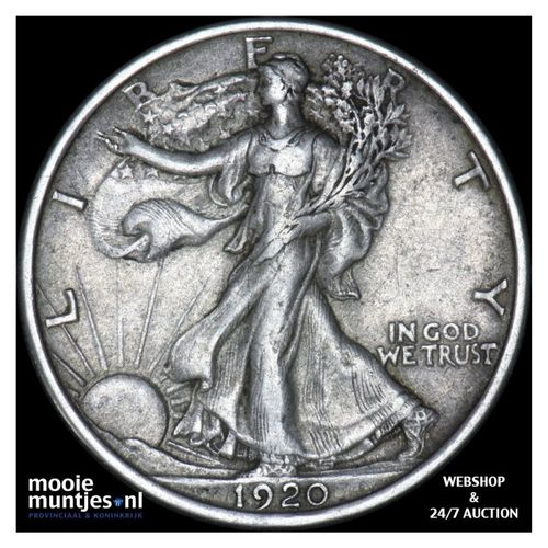 half dollar - walking liberty - United States of America 1920 (KM 142) (kant A)