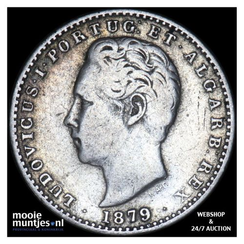 100 reis - Portugal 1879 (KM 510) (kant A)