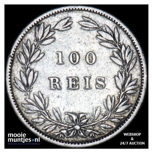 100 reis - Portugal 1879 (KM 510) (kant B)