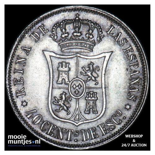 40 centimos - second decimal coinage - Spain 1866 (KM 628.2) (kant B)