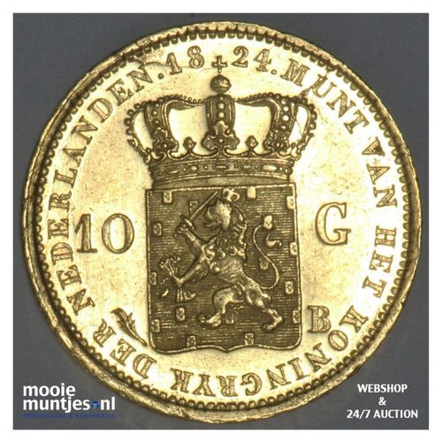 10 gulden - Willem I - 1824 Brussel (kant A)