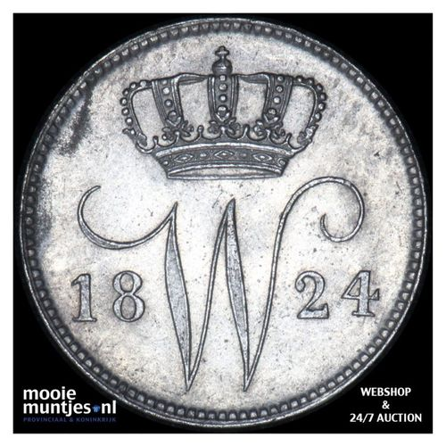 25 cent - Willem I - 1824 Brussel (kant A)