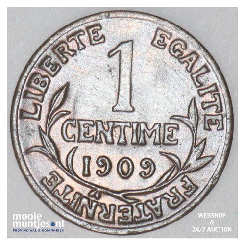 centime - France 1909 (KM 840 ) (kant A)