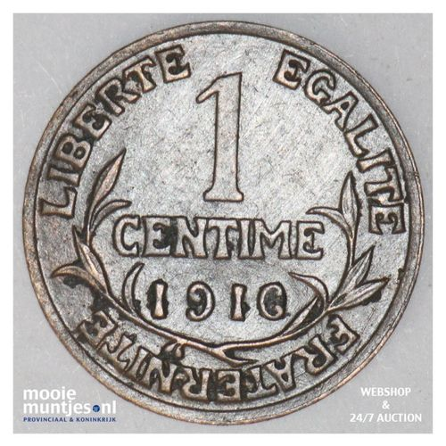 centime - France 1916 (KM 840 ) (kant A)