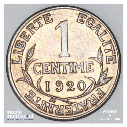 centime - France 1920 (KM 840 ) (kant A)