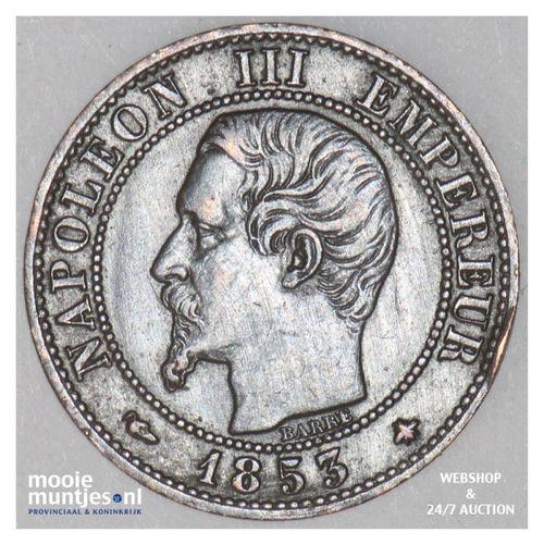 centime - France 1853 BB (Strasbourg) (KM 775.3) (kant A)