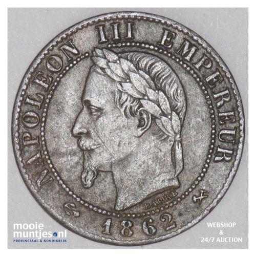 centime - France 1862 K (Bordeaux) (KM 795.3) (kant A)