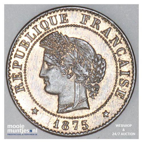 centime - France 1875 A (Paris) (KM 840) (kant A)