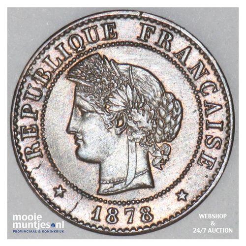 centime - France 1878 A (Paris) (KM 840) (kant A)