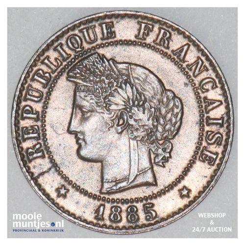 centime - France 1885 A (Paris) (KM 840) (kant A)