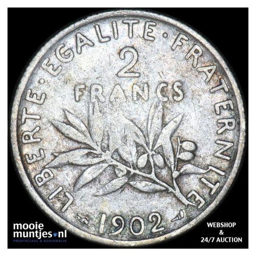 2 francs - France 1902 (KM 845.1) (kant A)