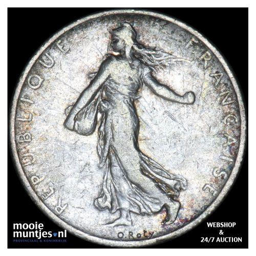 2 francs - France 1902 (KM 845.1) (kant B)