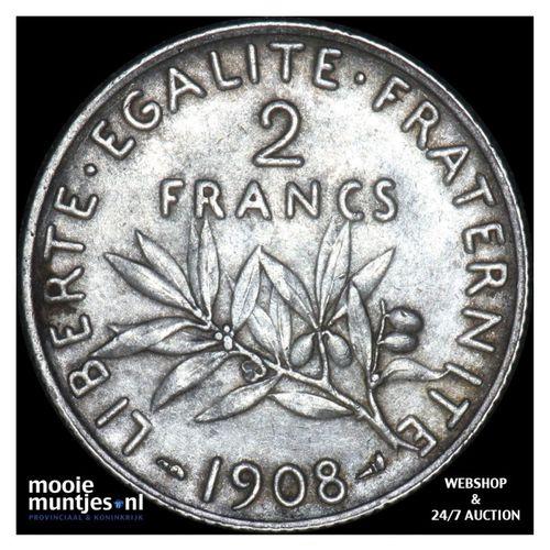 2 francs - France 1908 (KM 845.1) (kant A)