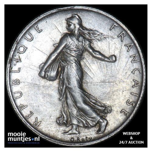 2 francs - France 1908 (KM 845.1) (kant B)