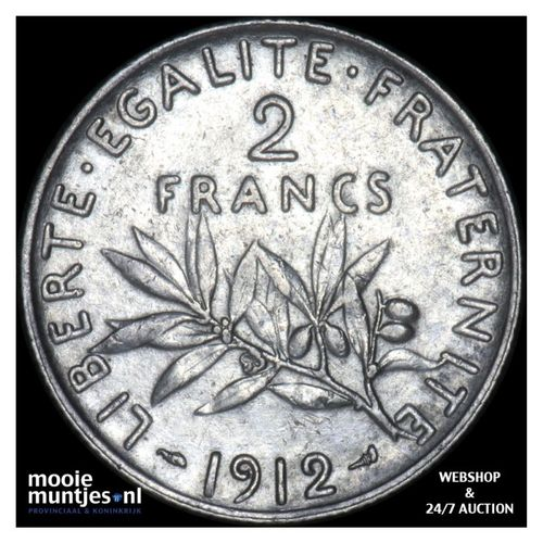 2 francs - France 1912 (KM 845.1) (kant A)