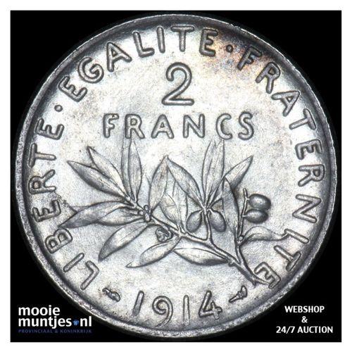 2 francs - France 1914 (KM 845.1) (kant A)