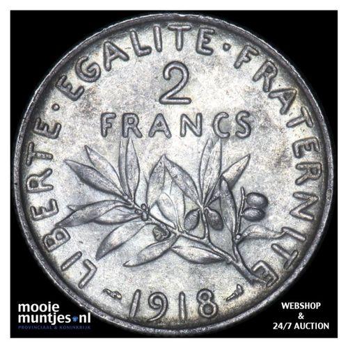 2 francs - France 1918 (KM 845.1) (kant A)