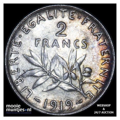 2 francs - France 1919 (KM 845.1) (kant A)