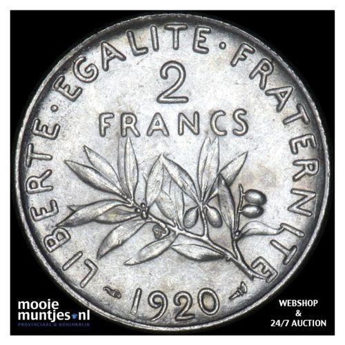 2 francs - France 1920 (KM 845.1) (kant A)