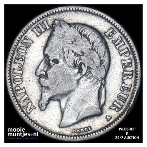 2 francs - France 1868 A (Paris) (KM 807.1) (kant B)