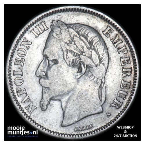 2 francs - France 1869 A (Paris) (KM 807.1) (kant B)