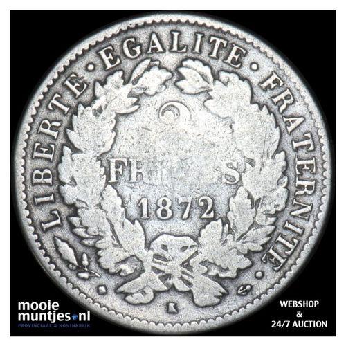 2 francs - France 1872 K (Bordeaux) (KM 817.2) (kant A)