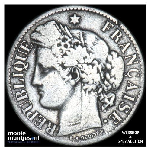 2 francs - France 1872 K (Bordeaux) (KM 817.2) (kant B)