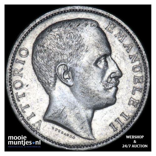 2 lire - decimal coinage - Italy 1905 (KM 33) (kant B)
