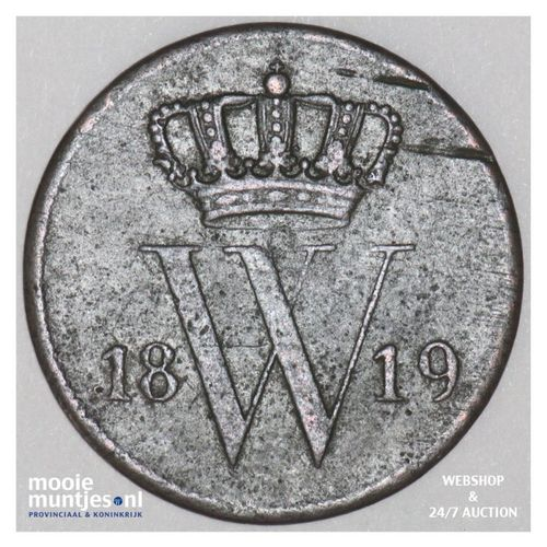 1 cent - Willem I - 1819 (kant A)