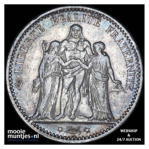 5 francs - France 1876 A (Paris) (KM 820.1) (kant B)