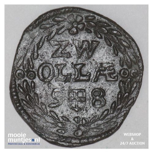 Zwolle - Duit - 1598 (kant A)