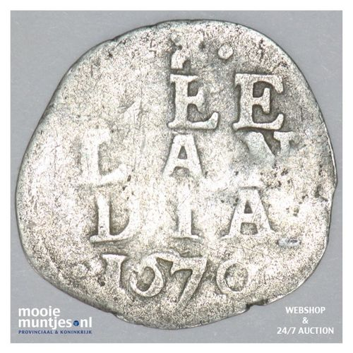 Zeeland - Dubbele stuiver - 1670 (kant A)