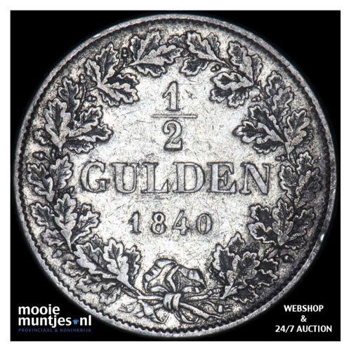 1/2 gulden - German States/Baden 1840 (KM 209) (kant A)