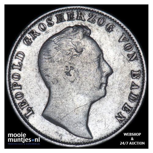 1/2 gulden - German States/Baden 1840 (KM 209) (kant B)
