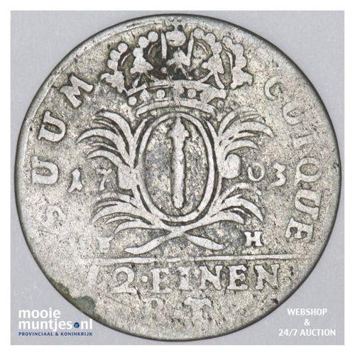1/12 thaler (doppelgroschen) - German States/Prussia 1703 (KM 7) (kant A)