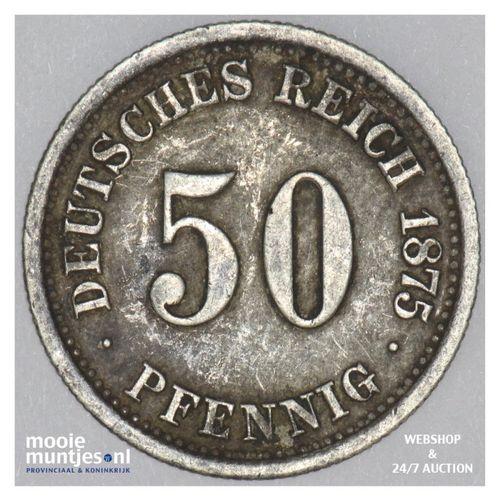 50 pfennig - Germany 1875 F (KM 6) (kant A)