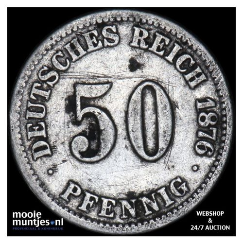 50 pfennig - Germany 1876 C (KM 6) (kant A)