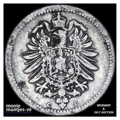 50 pfennig - Germany 1876 C (KM 6) (kant B)