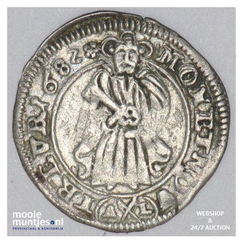 4 pfennig (1/2 albus) - German States/Trier 1682 (KM 138) (kant A)