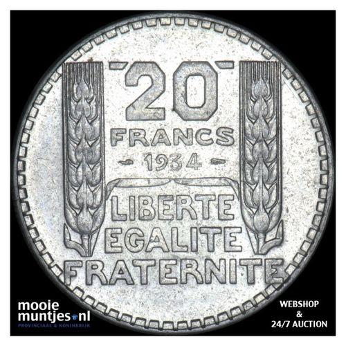 20 francs - France 1934 (KM 879) (kant A)