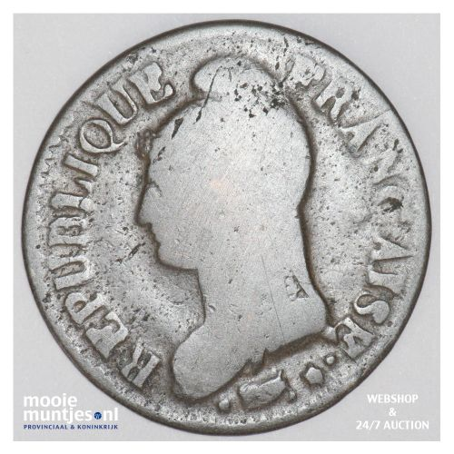 5 centimes - France LAN 8 AA (Metz) (KM 640.2) (kant B)