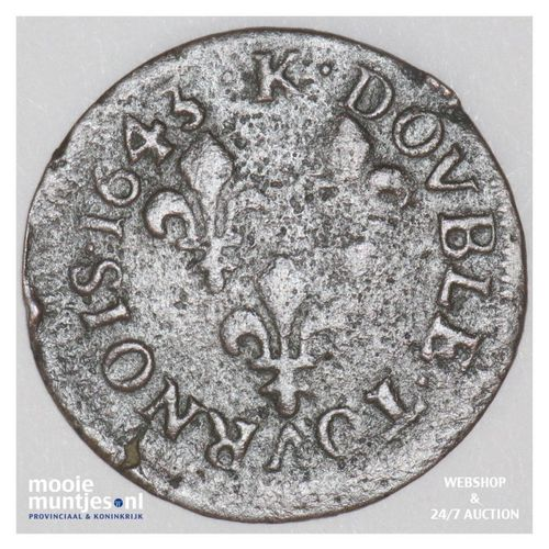 double tournois - France 1643 K (Bordeaux) (KM 127.7) (kant A)