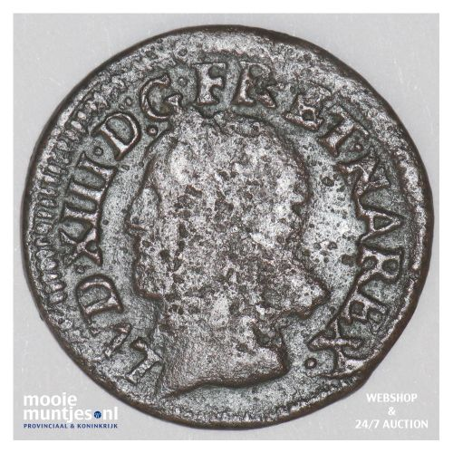 double tournois - France 1643 K (Bordeaux) (KM 127.7) (kant B)