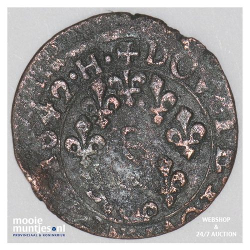 double tournois - French States/Boisbelle & Henrichemont 1643 H (KM 15) (kant A)