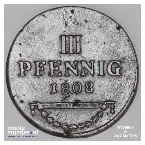 3 pfennig - German States/Saxe-Coburg-Saalfeld 1808 (KM 132) (kant A)
