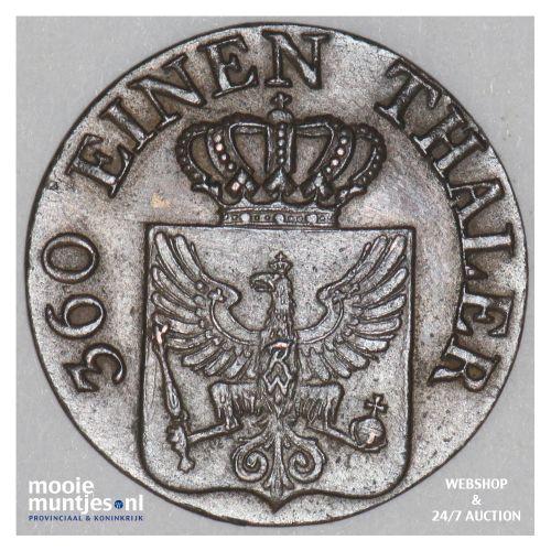 pfennig - German States/Prussia 1821 D (KM 405) (kant B)
